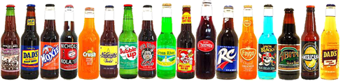 Old Fashioned Sodas - Vintage Sodas in Glass Bottles